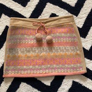 Free people wool blend mini skirt Nordic fair isle